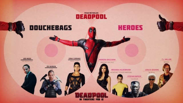 Stylish Deadpool Infographic Separates Friend And Foe