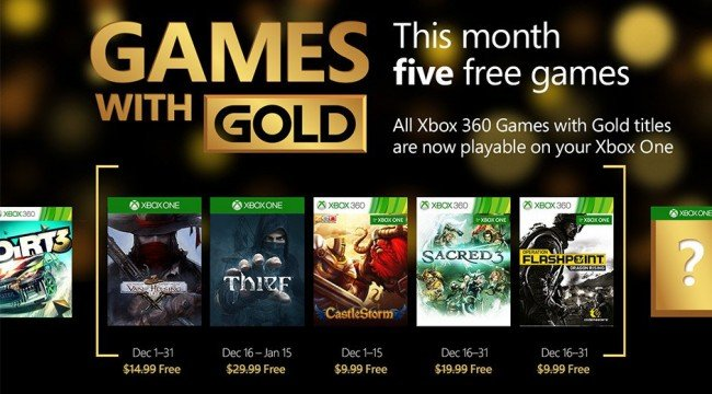Van Helsing And Thief Topline Xbox Live Games With Gold For December
