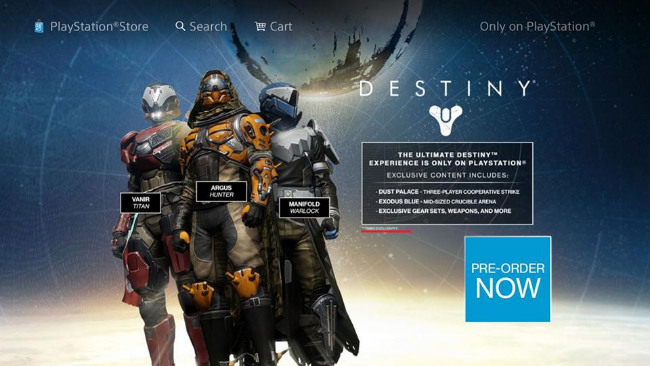 Destiny's PlayStation-Exclusive Content Includes Co-Op Missions, Guns & Shiny Armour