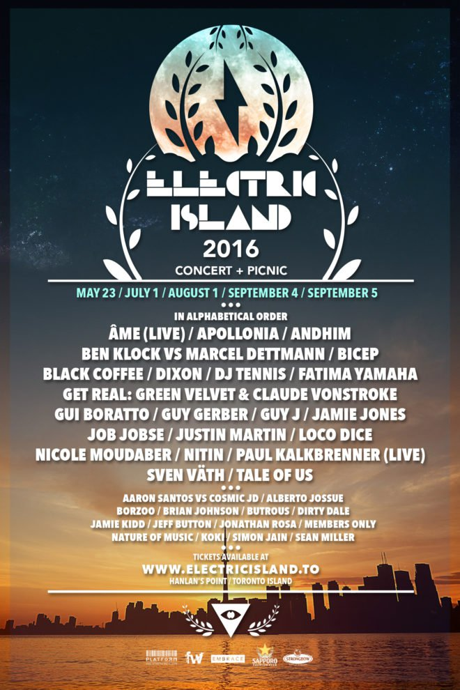 Electric Island Unveils 2016 Lineup For Toronto's House And Techno Heads