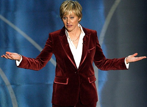 ellen 493x360 Ellen DeGeneres To Host 86th Academy Awards