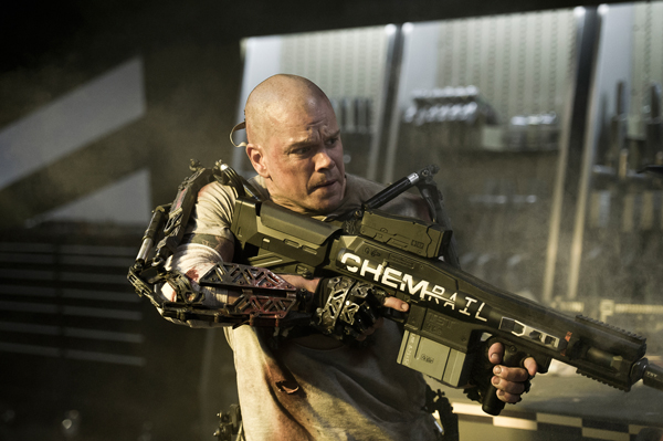 Check Out Bald Matt Damon In Neill Blomkamp's Elysium