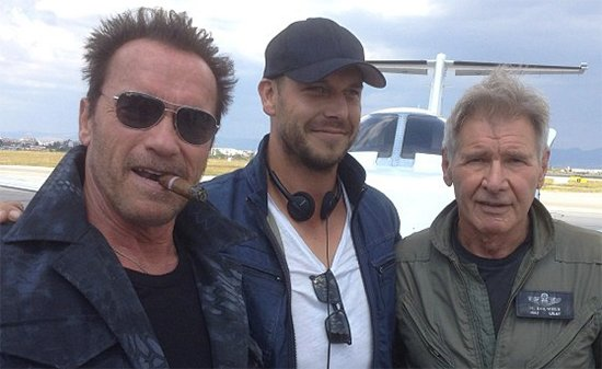 He's Back! And Never Tell Him The Odds! Check Out Arnold Schwarzenegger And Harrison Ford On The Expendables 3 Set