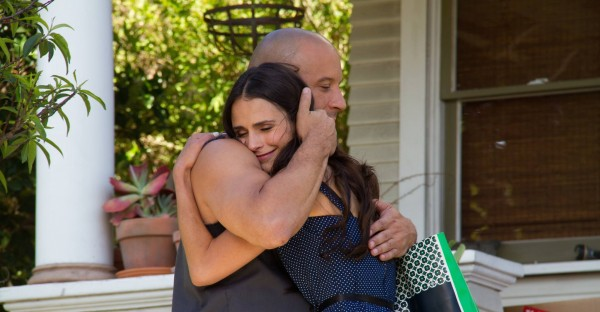 New Fast & Furious 7 Image Shows Vin Diesel Embracing Jordana Brewster
