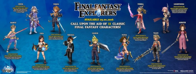 New Action-Packed Trailer For Final Fantasy Explorers Released