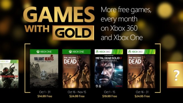 Valiant Hearts And The Walking Dead Highlight October's Games With Gold