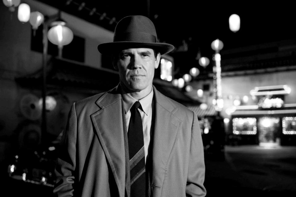 Gangster squad goes black and white in new images