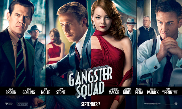 Check Out The Stylish Series Of Character Banners For Gangster Squad