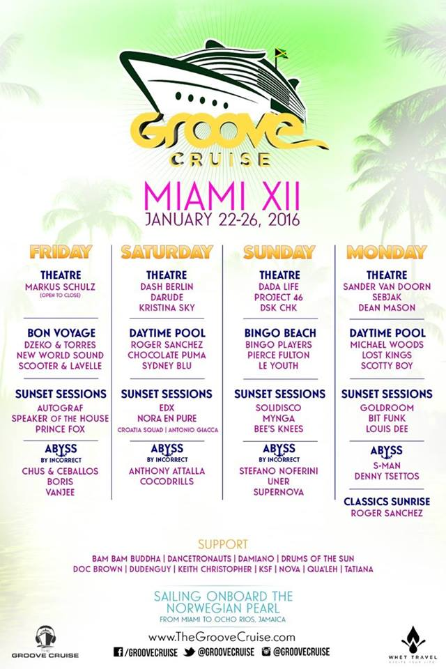 Groove Cruise Miami 2016 Announces Full Lineup, And It's Stacked