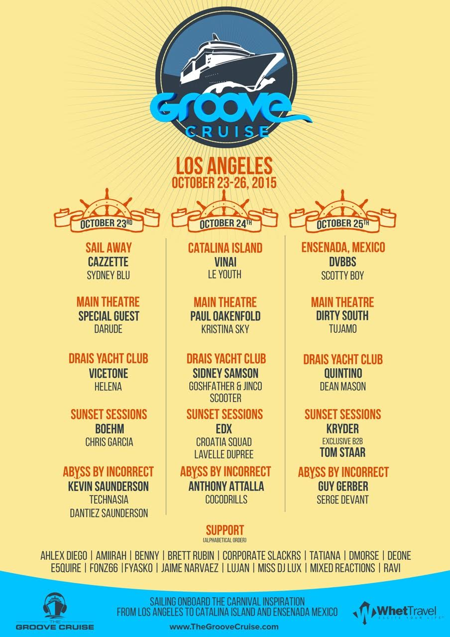 Groove Cruise Los Angeles Announces 2015 Lineup