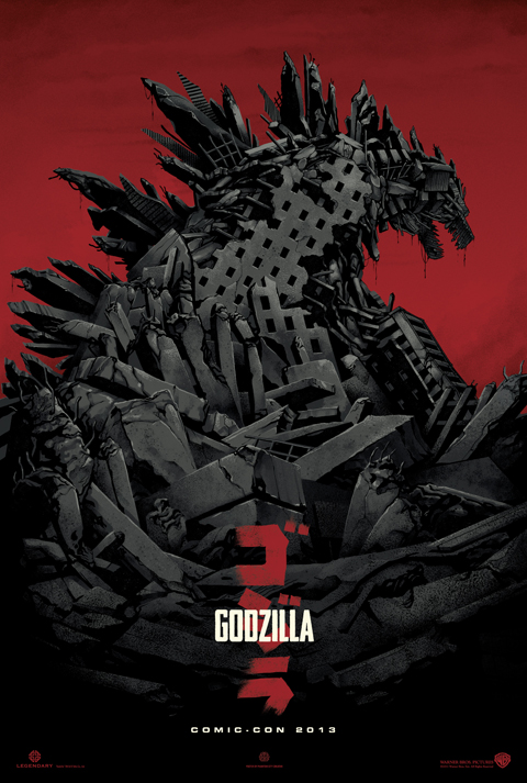 godzilla poster The Top 10 Movie Posters Of 2013