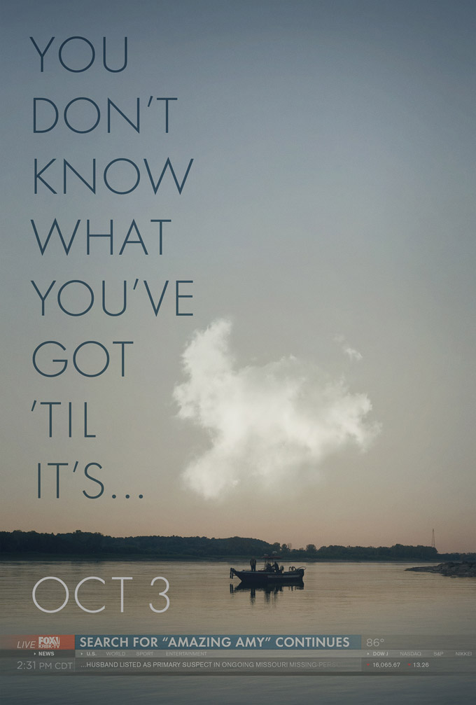 Gone Girl Teaser Poster May Puzzle Those Who Are Unfamiliar With The Book