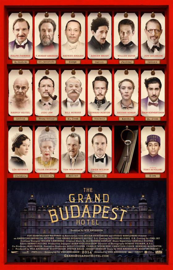 grand budapest hotel poster Meet The Cast Of The Grand Budapest Hotel With New Trailer And Posters