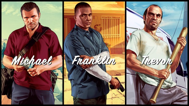 grand theft auot v michael franklin trevor