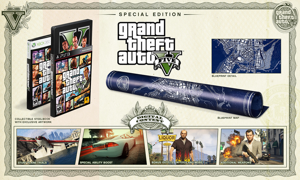 Grand Theft Auto V Special Editions Announced, Official Trailer Coming Thursday