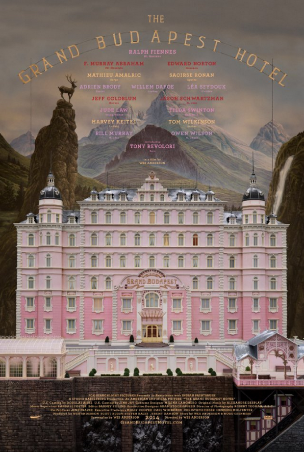 New Poster For Wes Anderson's The Grand Budapest Hotel Is Sumptuous And Symmetrical