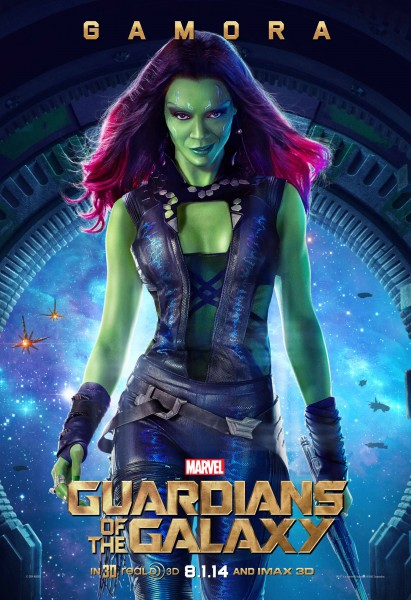 Check Out Zoe Saldana In This New Guardians Of The Galaxy Poster