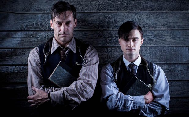 Daniel Radcliffe And Jon Hamm In A Young Doctor's Notebook Trailer