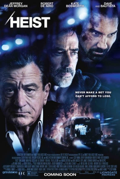 Bombastic Trailer For Robert De Niro's Heist Is Unashamedly Generic