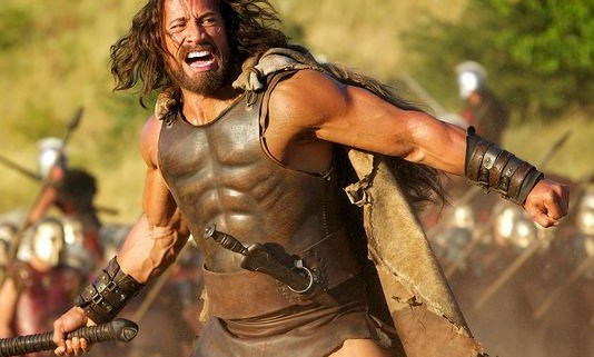 hercules dwayne johnson 1 534x321 Dwayne Johnson Sports Long Hair In First Images From Hercules