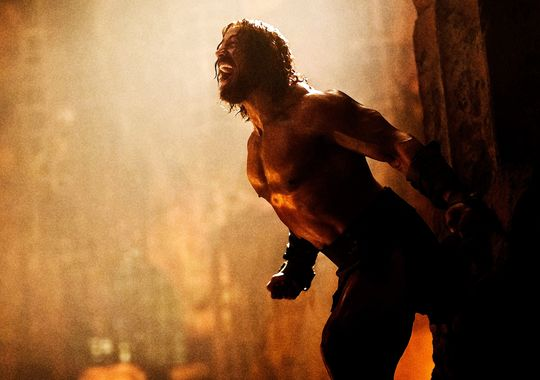hercules dwayne johnson1 Dwayne Johnson Sports Long Hair In First Images From Hercules