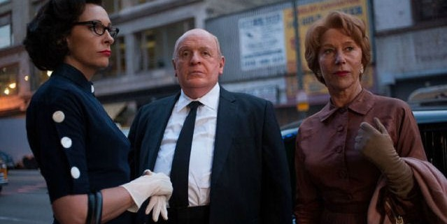 Toni Collete, Anthony Hopkins, and Helen Mirren in Hitchcock