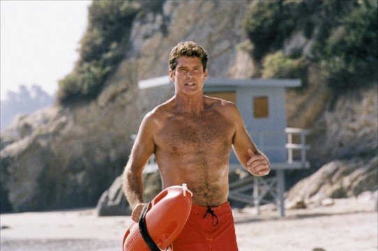 David Hasselhoff Returns To The Beach For Dwayne Johnson's Baywatch Movie