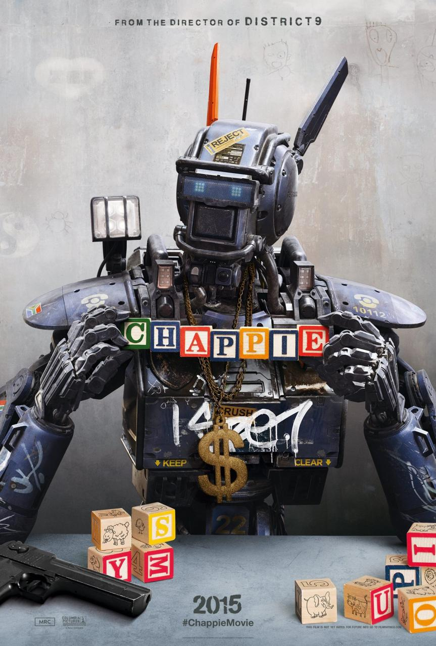 Meet The Titular Robotic Stowaway In Poster For Neill Blomkamp's Chappie