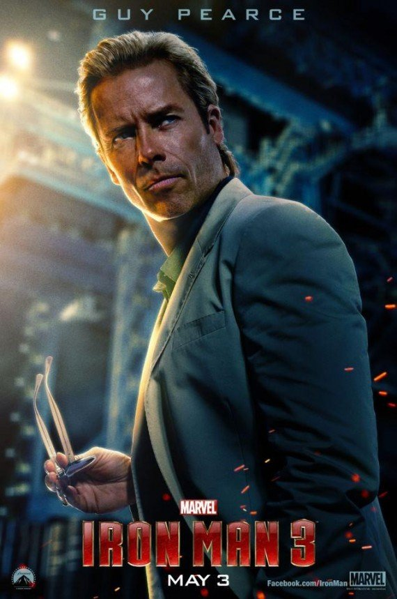 New Iron Man 3 Poster: Guy Pearce Is The Scientist