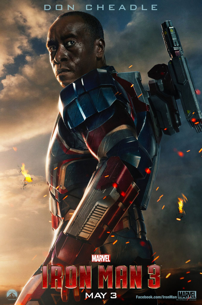 Don Cheadle Is Iron Patriot In New Iron Man 3 Poster