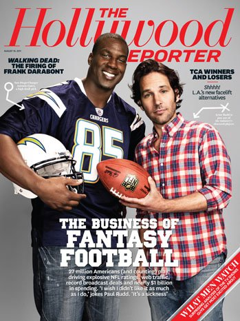 issue 29 cover fantasy football 2011 a p NFL Fantasy Football Is $erious Business