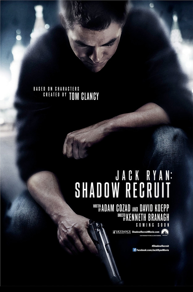 First Jack Ryan: Shadow Recruit Poster Features Chris Pine Crouching Down