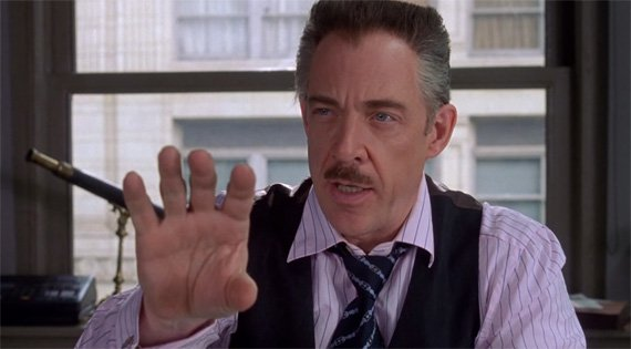 J. Jonah Jameson as played by J.K. Simmons
