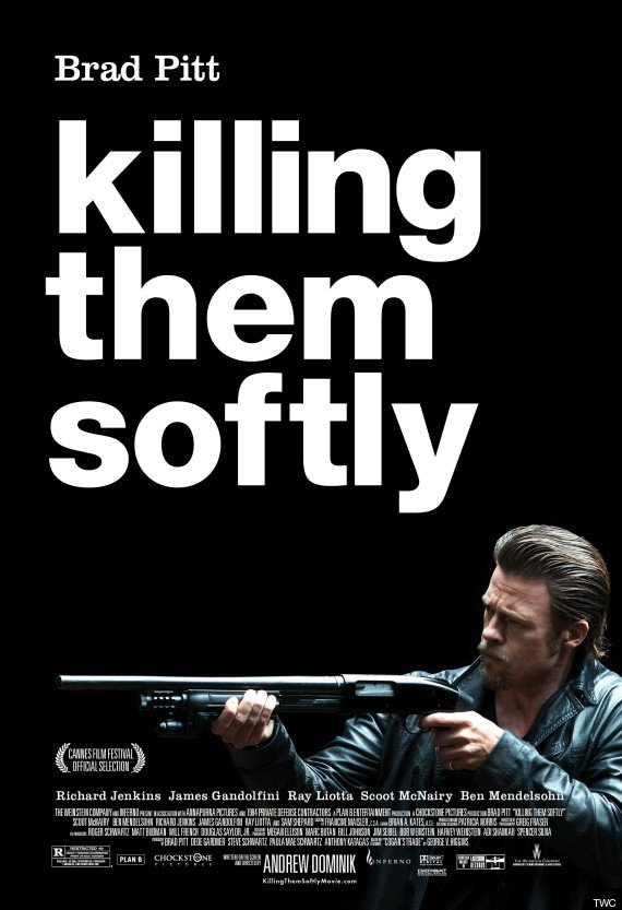 Killing Them Softly Theatrical Poster Shows Brad Pitt And His Shotgun