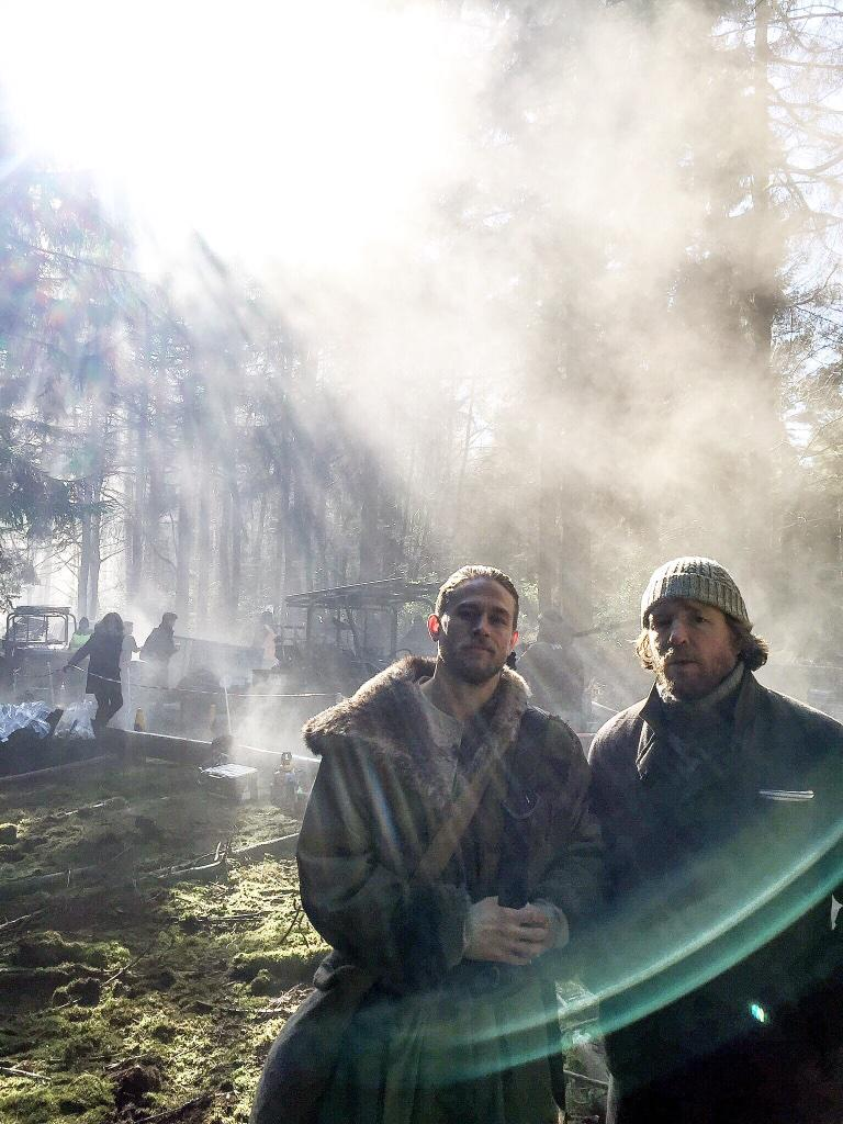 First Photo Of Charlie Hunnam On The Set Of Knights Of The Roundtable: King Arthur
