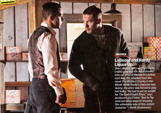 First Look At Shia LaBeouf And Tom Hardy In Lawless