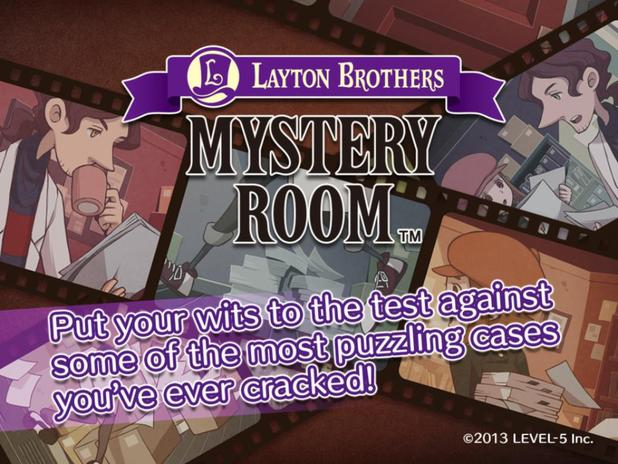 Layton Brothers Mystery Room Now Available For iOS