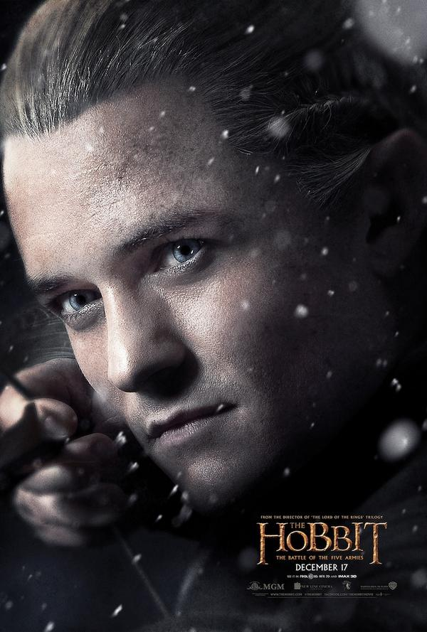 Feast Your Eyes On The Legolas Poster For The Hobbit: The Battle Of The Five Armies