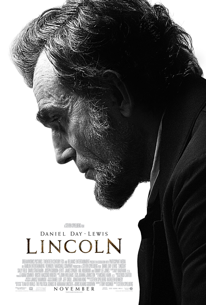 The First Poster For Lincoln Features A Somber Daniel Day-Lewis