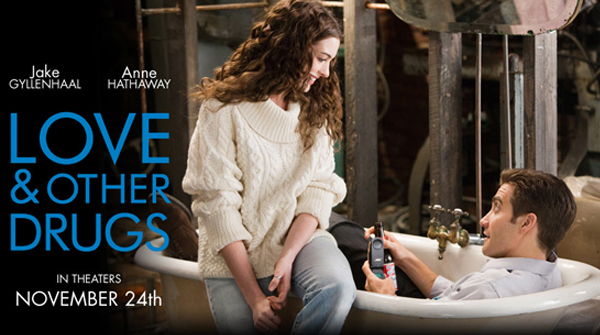 contest as we give away three copies of Love And Other Drugs on DVD.