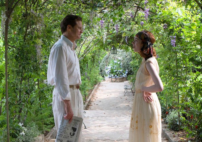 Colin Firth and Emma Stone in Magic in the Moonlight