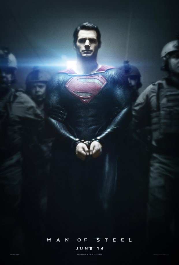 Superman Appears Handcuffed In New Man Of Steel Poster