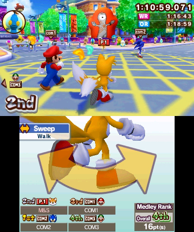 Mario And Sonic At The London 2012 Olympic Games Review (3DS)