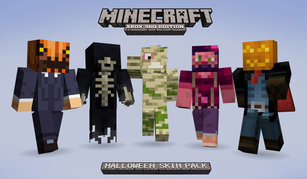 minecraft xbla halloween skin pack copy Minecraft Has Overtaken Modern Warfare 3 On Xbox Live Activity Chart
