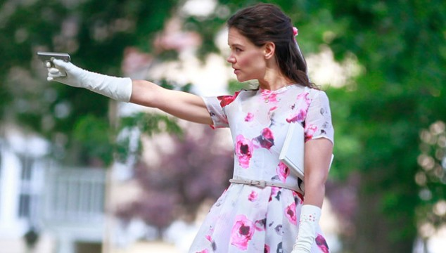 Katie Holmes Takes Up Arms In Miss Meadows Trailer