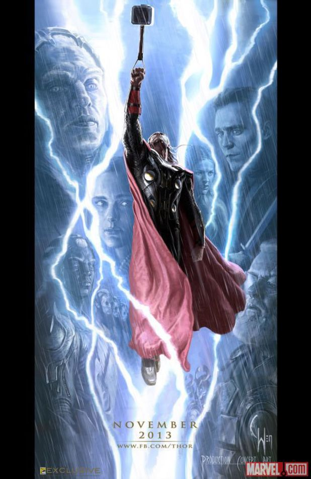 New Concept Art Posters For Thor: The Dark World And Captain America: The Winter Soldier