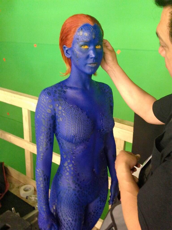 First Look At Jennifer Lawrence As Mystique In X-Men: Days Of Future Past