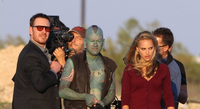 natalie portman untitled malick project with michael fassbender 01 lizardman 661x360 Boyd Holbrook & The Lizardman Film Scenes For The Untitled Terrence Malick Film