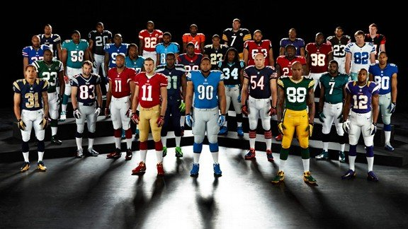 nfl nike unis 576 Introducing The New Nike NFL Uniforms