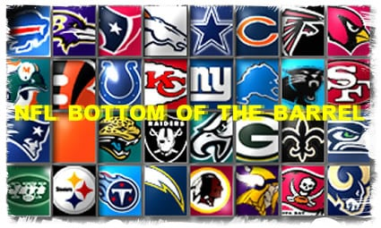 NFL Bottom Of The Barrel – Week 7